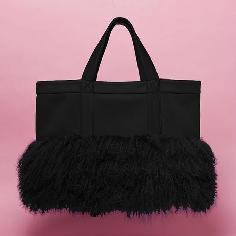 Scuba  ×  fur Tote Bag  -  BLK