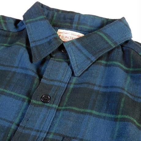Boncoura Flannel Shirt Navy Tartan