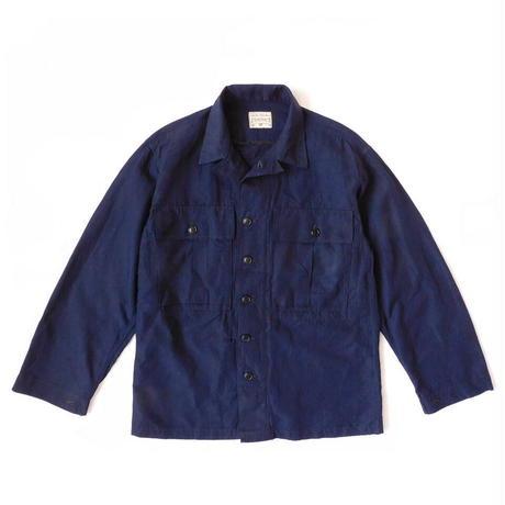 Boncoura Salvage Indigo Linen B-43 Jacket