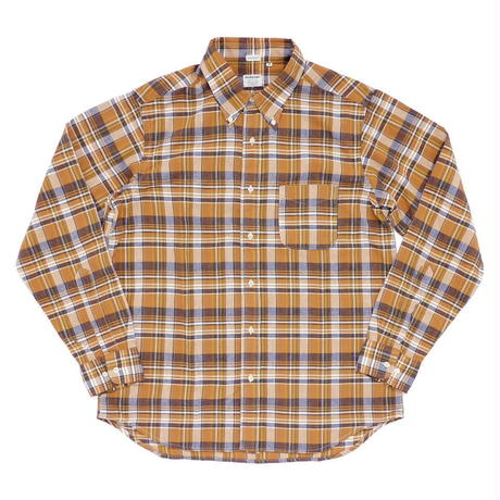 Workers Modified BD Shirt Orange Madras