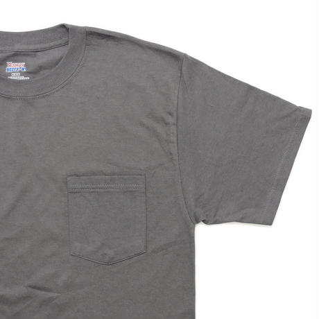 Hanes Beefy Pocket T-Shirt Smoke Grey