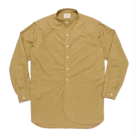 Boncoura Band Collar Shirt Khaki