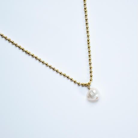 tansui pearl × ball chain necklace