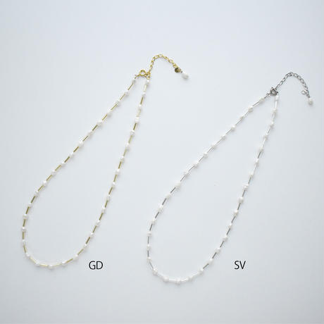 tansui pearl × beads necklace