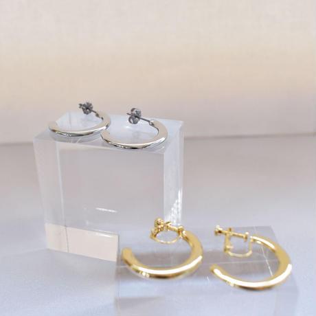 metal flat hoop pierce / earring