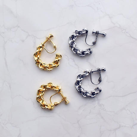 metal rope pierce / earring