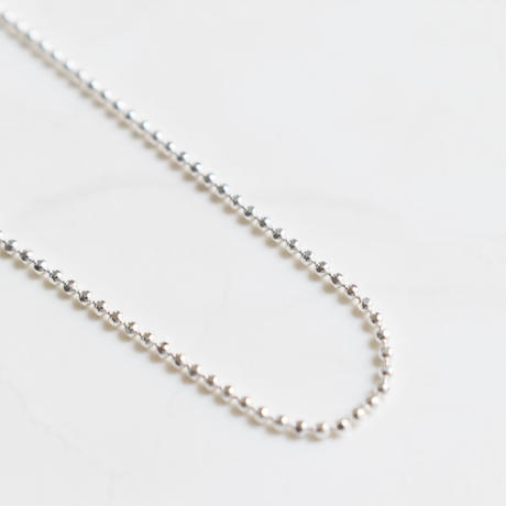 w005 silver925 ball chain necklace