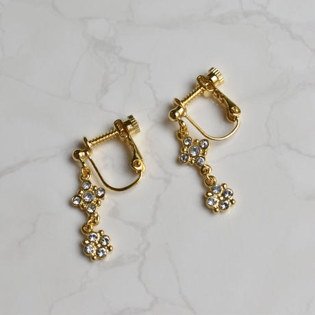 e137/p243 glass double earring / pierce