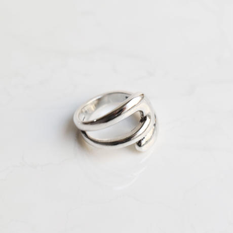 silver925 distorted ring