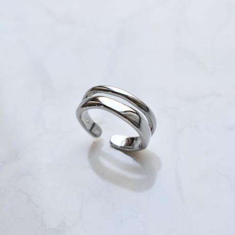 silver925 2line ring
