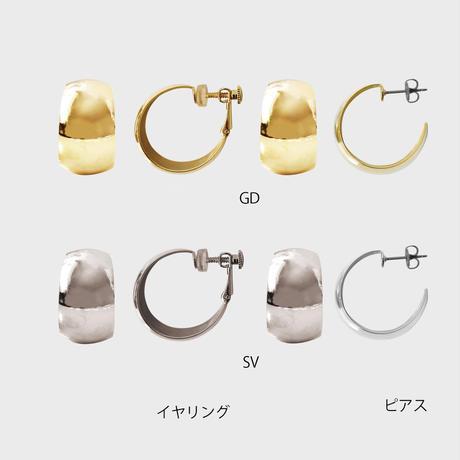 wide hoop pierce / earring
