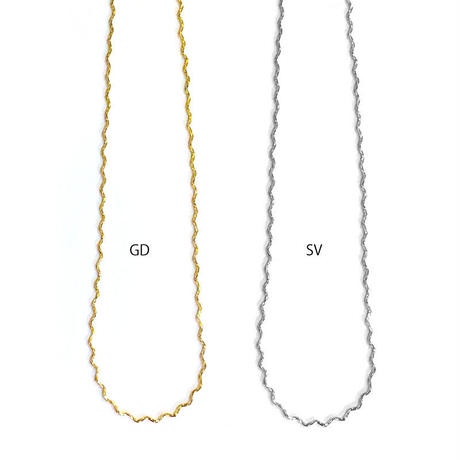 n134 wave chain short necklace