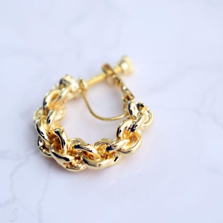 e151p251 metal rope pierce / earring