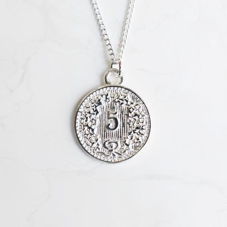 silver925 coin  motif necklace