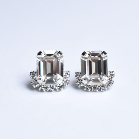 bijou rectangle pierce / earring