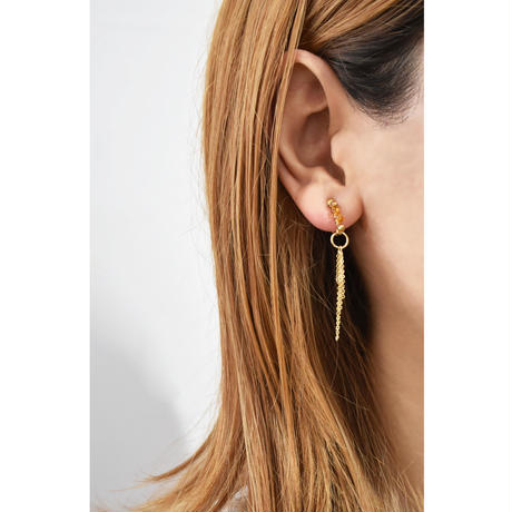 e141 2way beads tassel earring