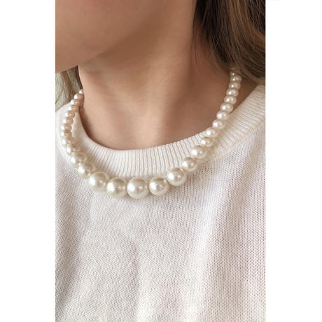 s247 glosy pearl mix necklace M