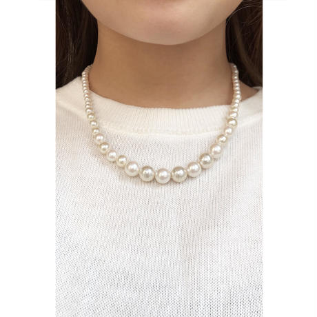 s247  glosy pearl  mix necklace S