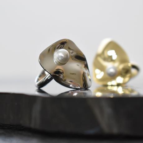 bending metal pearl free ring
