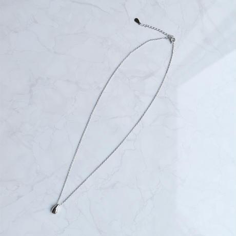 silver925 drop motif necklace