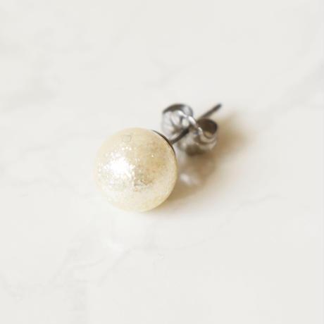 glossy pearl pierce / earring  S