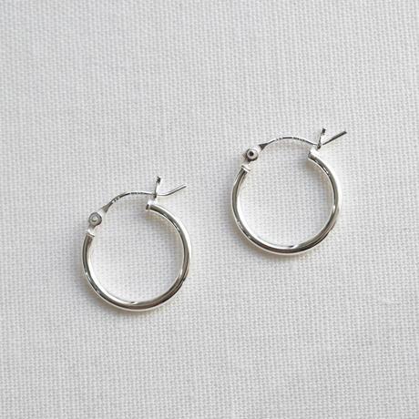 silver925 simple hoop pierce  L