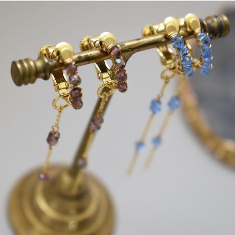 e139 2way long beads earring