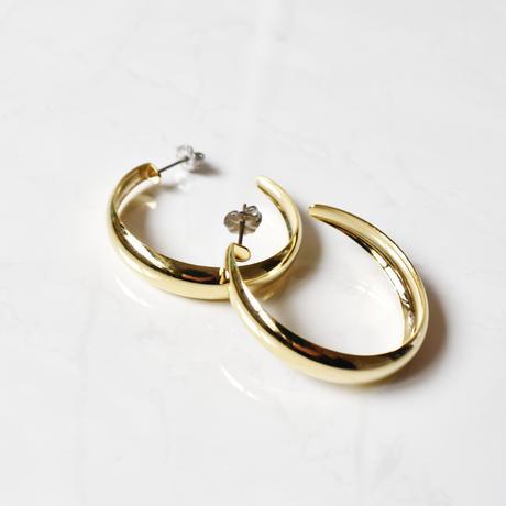 wide hoop piece/earring