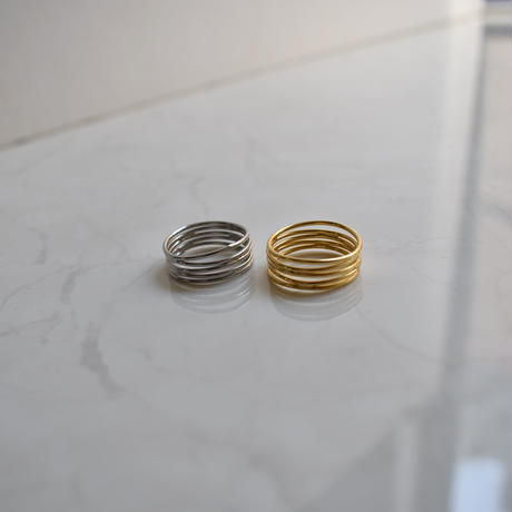 coil motif wide ring