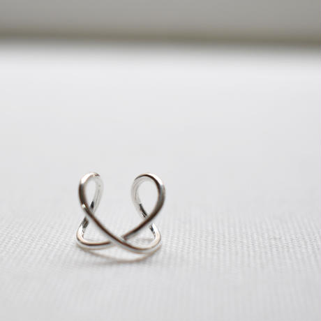 sv035 silver925 cross ear cuff
