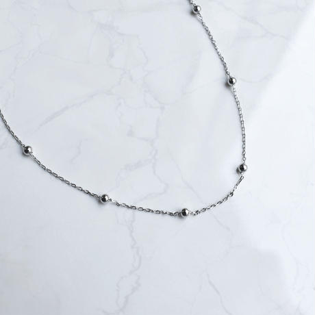 silver925 small ball chain necklace