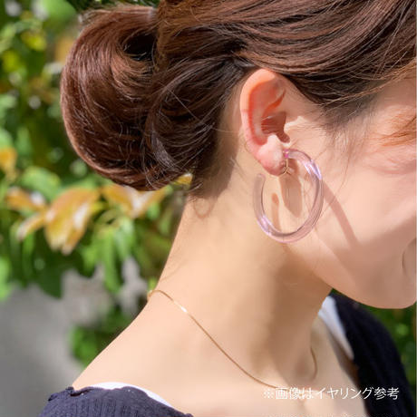 p209 new clear hoop earring / pierce
