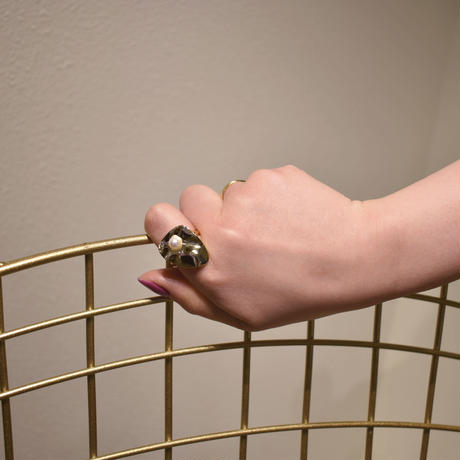 r075 bending metal pearl free ring