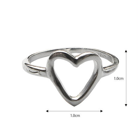 sv015 silver925 diecut heart ring
