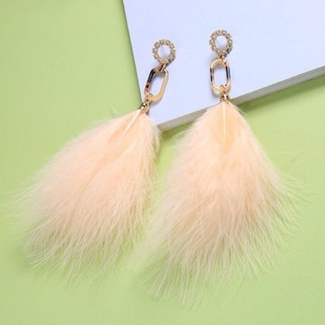 amber × feather  pierce