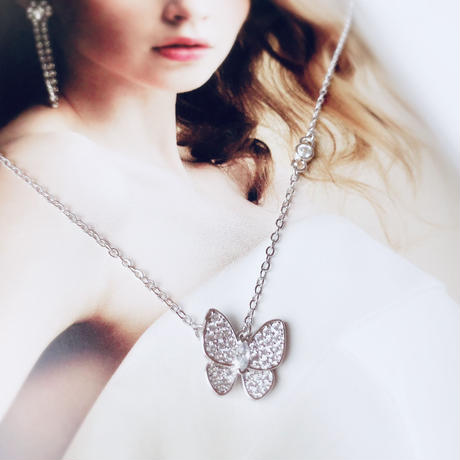 silver925 butterfly necklace