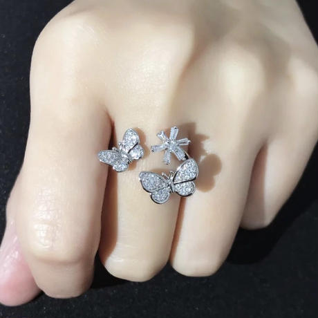 butterfly × flower ring