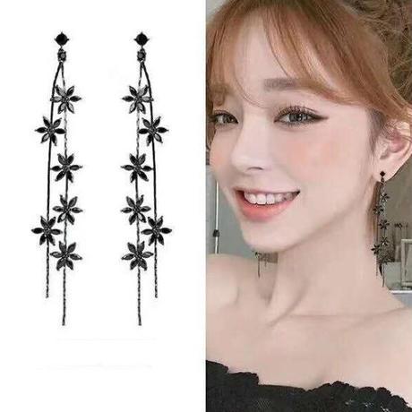 flower long  pierce
