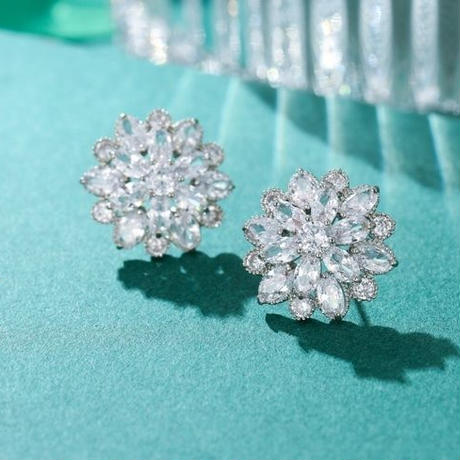 large diamond pierce/earring