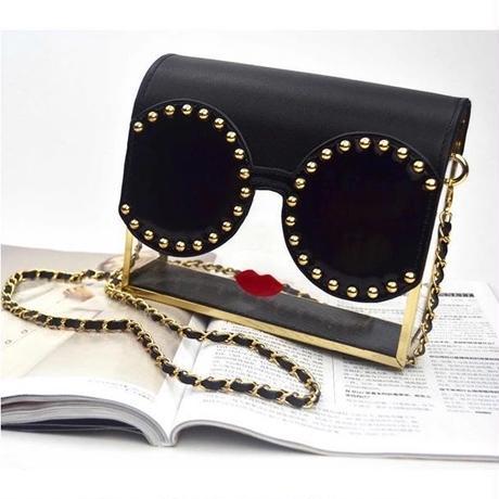 sunglasses girl clear shoulder bag