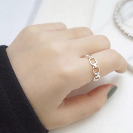 silver925 chain ring
