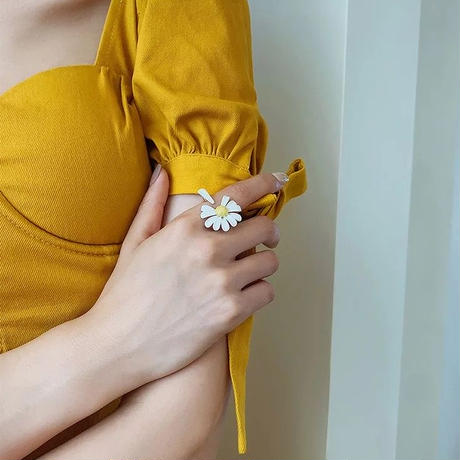 daisy open ring