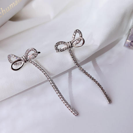 ribbon silver  pierce