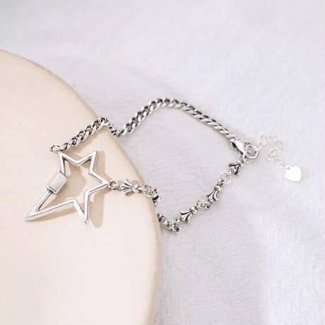 star asymmetry chain bracelet
