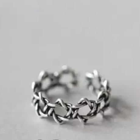 silver925 jagged star ring