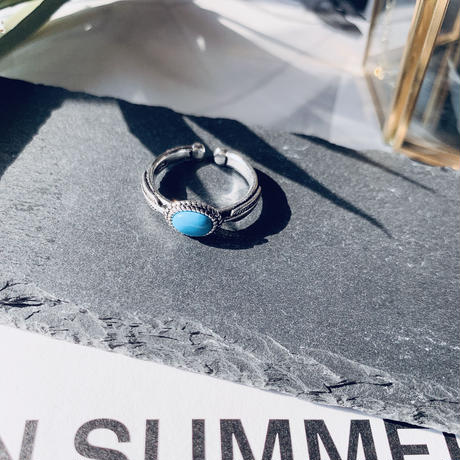 silver925 turquoise stone ring
