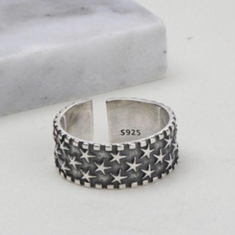 silver925 vintage star ring