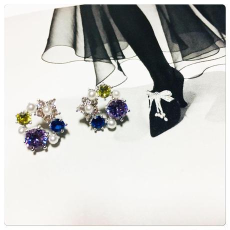 colorful  stone × pearl  pierce