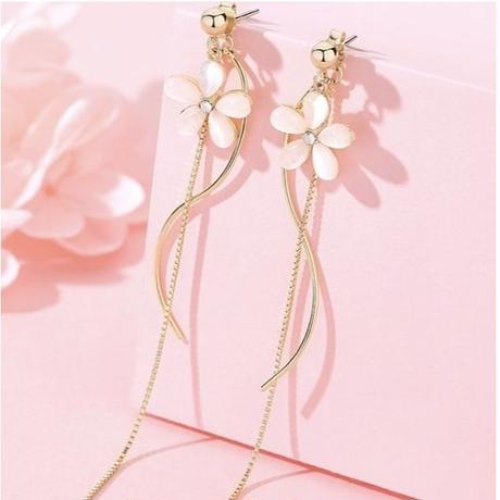 flower curve chain pierce