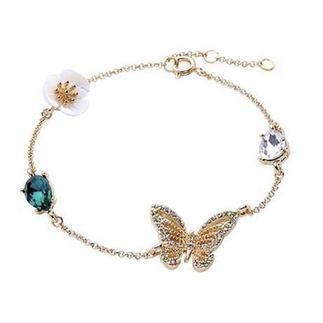 butterfly × flower bracelet